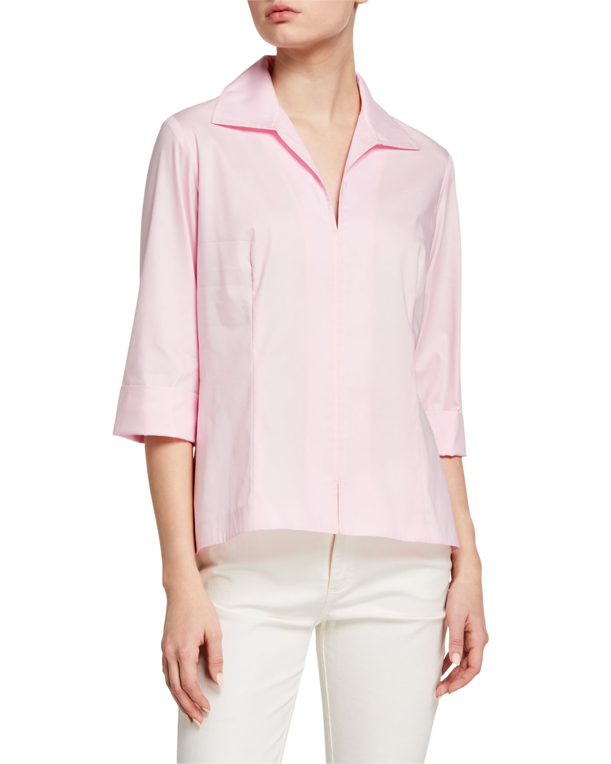 Finley 3/4-Sleeve Stretch Cotton Swing Shirt