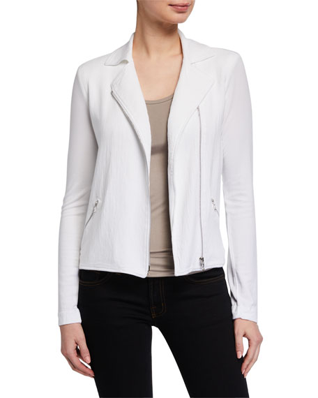 Image 1 of 3: French-Terry Moto Jacket