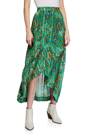ba&sh Hall Floral-Print Maxi Skirt