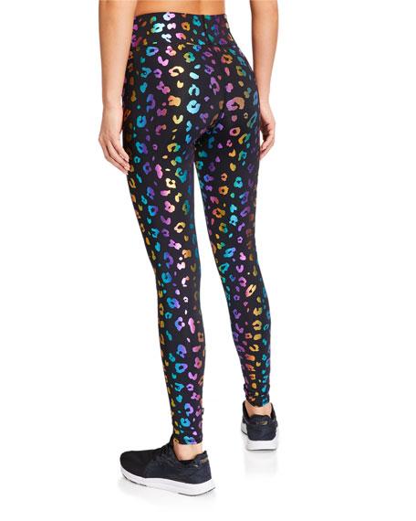 Terez Foiled Rainbow Cheetah Leggings