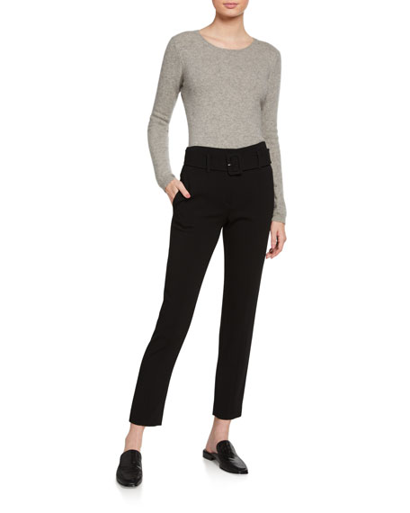 Theory Admiral Crepe Belted Cigarette Pants