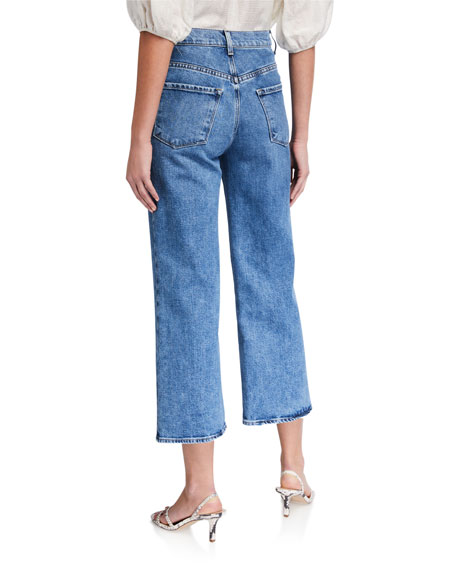 Image 2 of 3: J Brand Joan High-Rise Wide-Leg Crop Jeans