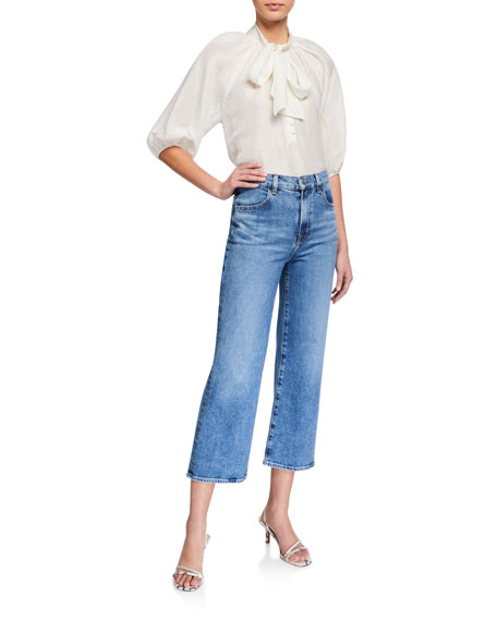 Image 3 of 3: J Brand Joan High-Rise Wide-Leg Crop Jeans