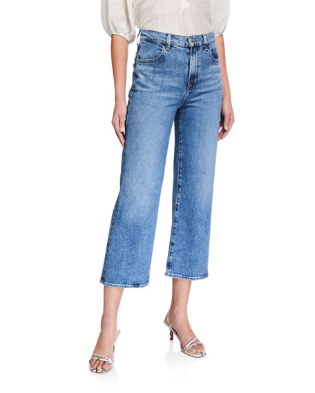 Image 1 of 3: J Brand Joan High-Rise Wide-Leg Crop Jeans