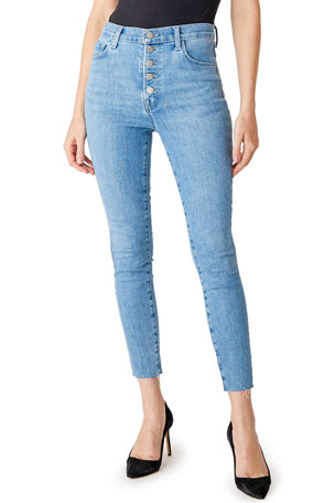 J Brand Lillie High-Rise Crop Skinny Jeans