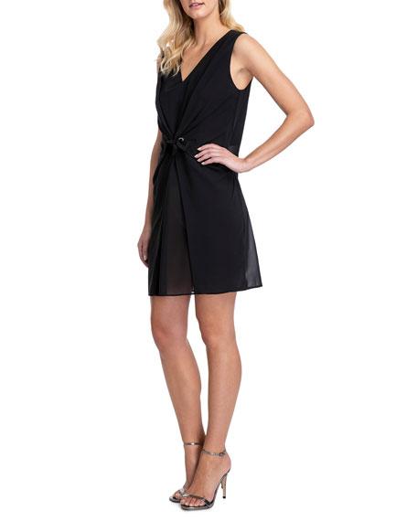 Gottex Vogue Tie-Front Short Dress