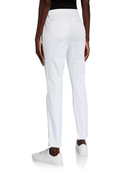 Lafayette 148 New York Mercer Yarn-Dyed Denim Step-Hem Ankle Jeans