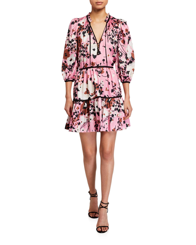 Veronica Beard Hawken Floral-Print Dress