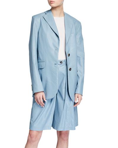 Oversized Single-Breasted Jacket