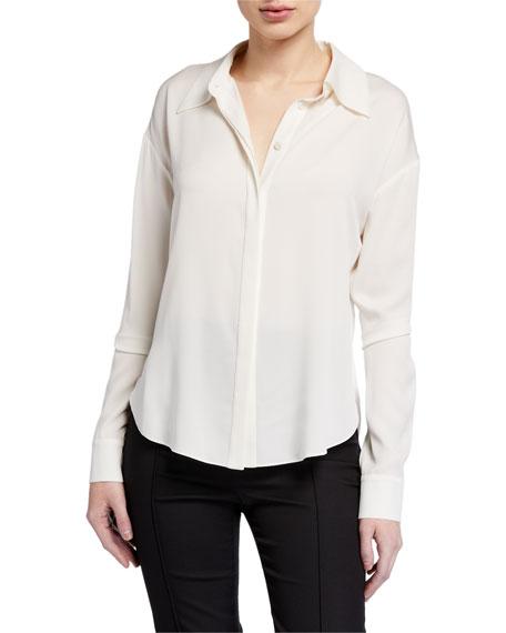Diane von Furstenberg Leanna Silk Button-Down Blouse