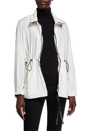 Moncler Wind-Resistant Drawcord Jacket