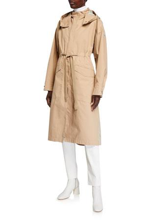 Moncler Long Moutarde Waterproof Rain Jacket