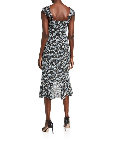 Veronica Beard Amal Floral-Print Dress