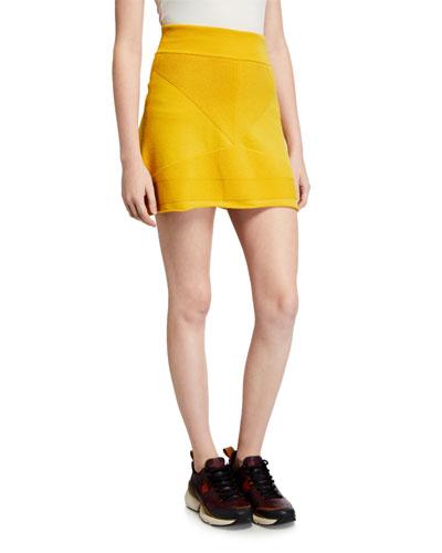Short A-Line Wool Skirt