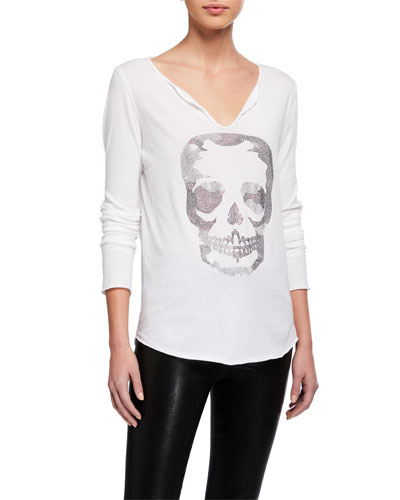 Tunisien Camo Skull Top