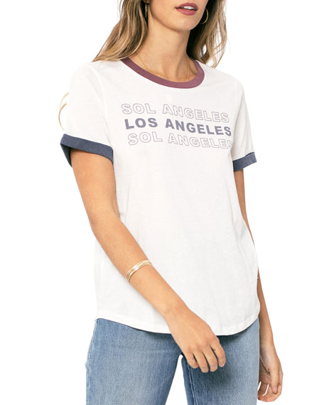Sol Angeles Los Angeles Ringer T-Shirt