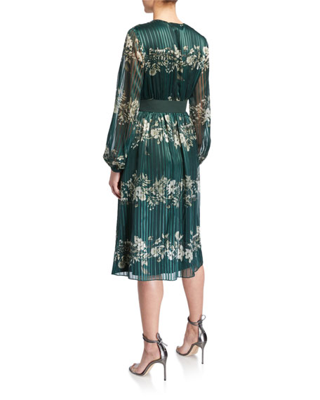 Ted Baker Delyla Meadowsweet Long-Sleeve Midi Dress