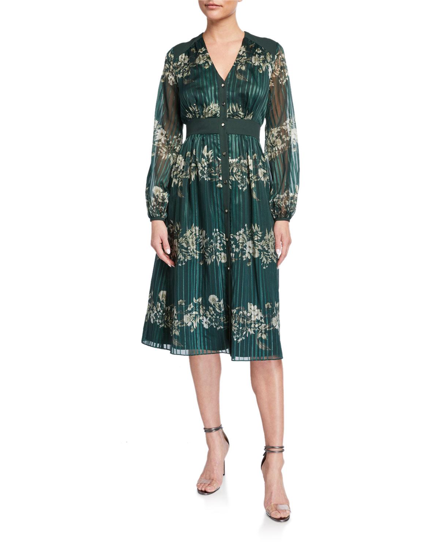 Ted Baker Delyla Meadowsweet Long-Sleeve Midi Dress
