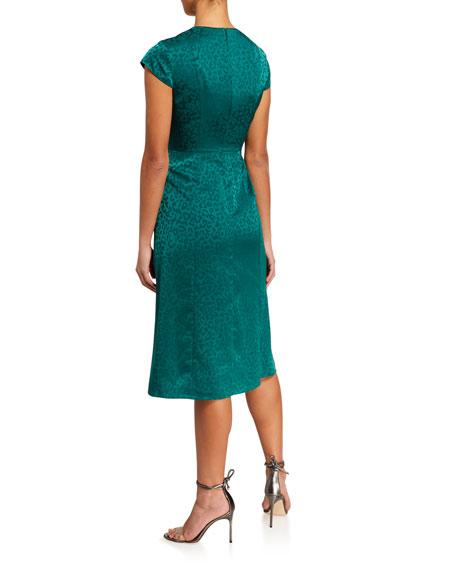 Ted Baker London Bellana Animal Jacquard Short-Sleeve Dress