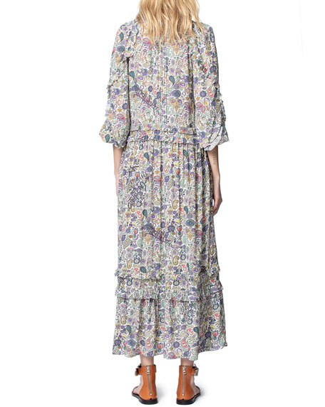 Image 2 of 4: Zadig & Voltaire Realize Printed Maxi Dress