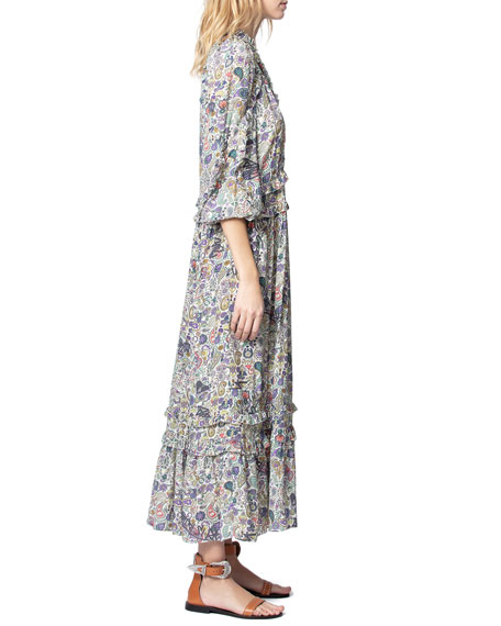 Image 3 of 4: Zadig & Voltaire Realize Printed Maxi Dress