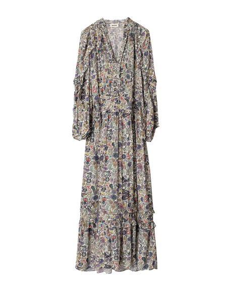 Image 4 of 4: Zadig & Voltaire Realize Printed Maxi Dress
