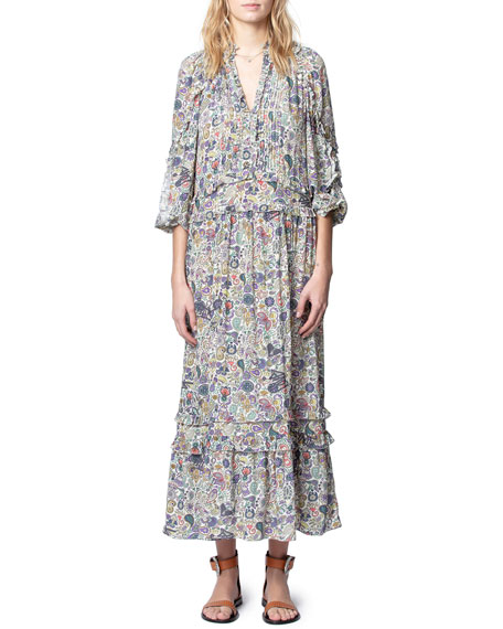 Image 1 of 4: Zadig & Voltaire Realize Printed Maxi Dress