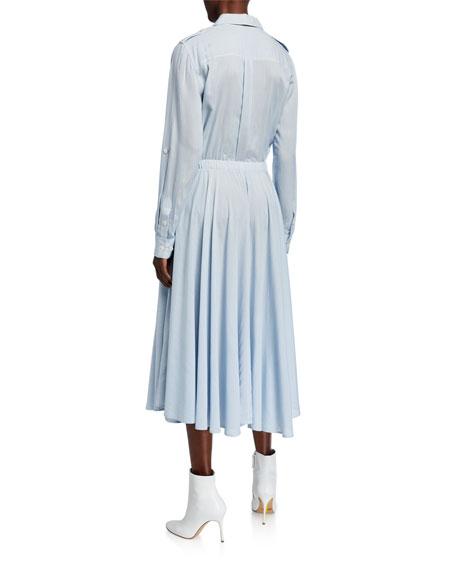Equipment Jacquot Tab-Sleeve A-Line Midi Dress