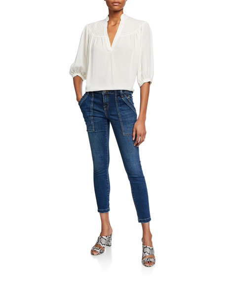 Image 3 of 3: Joie Park Cropped Skinny Jeans