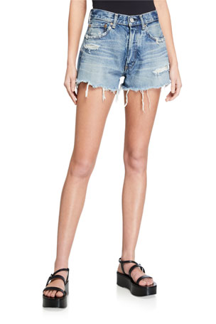 MOUSSY VINTAGE Chester Distressed Shorts