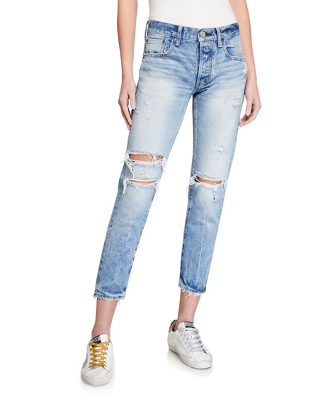MOUSSY VINTAGE Wilburtha Tapered Distressed Jeans