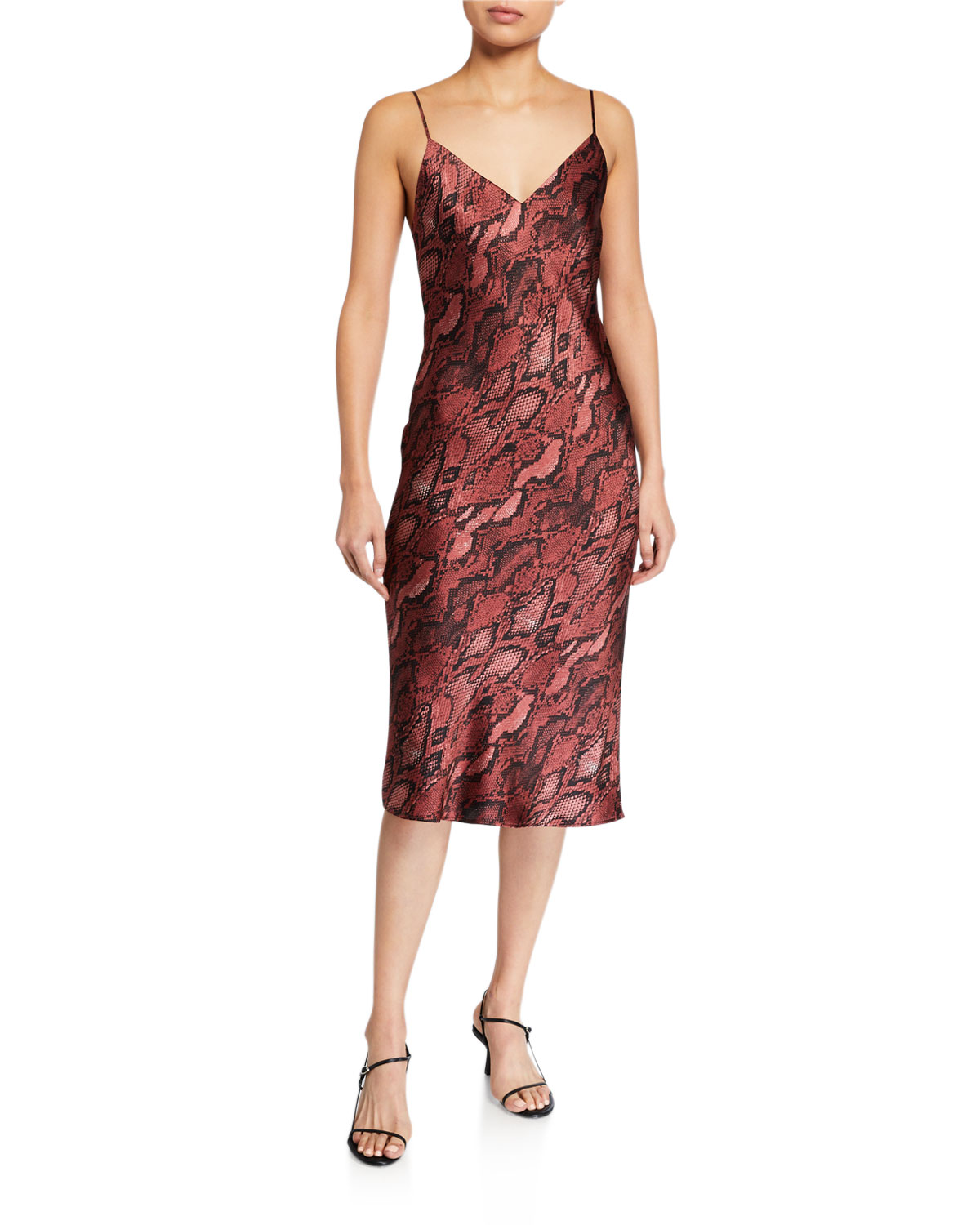 L'Agence Jodie V-Neck Slip Dress