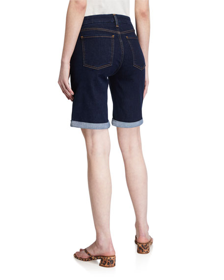 Image 2 of 3: Jen7 by 7 for All Mankind Mid-Rise Bermuda Shorts