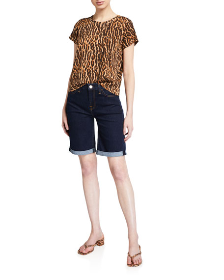 Image 3 of 3: Jen7 by 7 for All Mankind Mid-Rise Bermuda Shorts