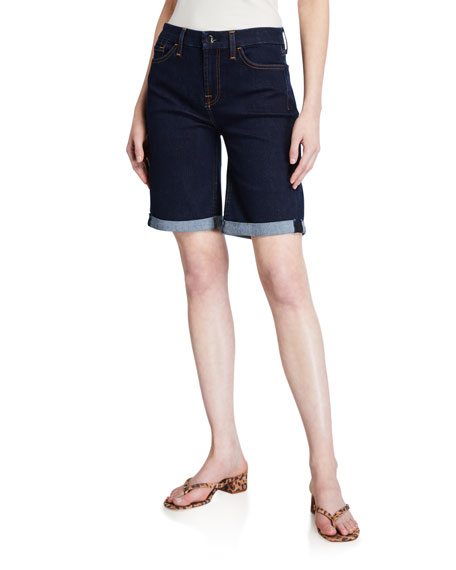 Image 1 of 3: Jen7 by 7 for All Mankind Mid-Rise Bermuda Shorts