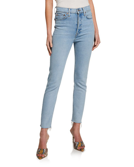 Image 1 of 3: RE/DONE 90s High-Rise Ankle Crop Jeans