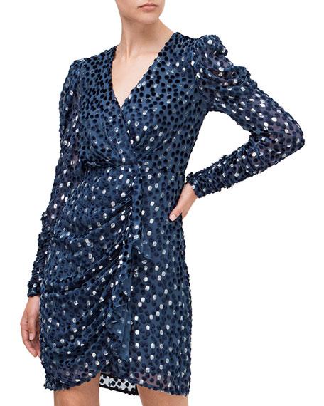 kate spade new york scatter dot velvet dress