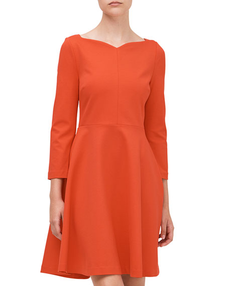kate spade new york ponte fit-and-flare dress