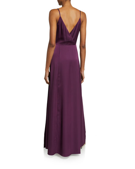 Image 2 of 2: WAYF The Angelina Sleeveless Wrap Gown