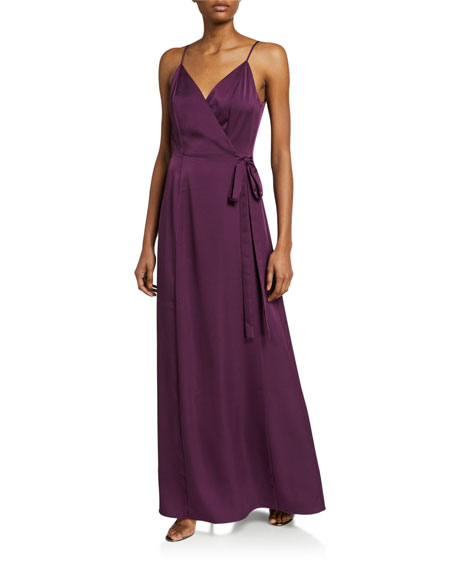 Image 1 of 2: WAYF The Angelina Sleeveless Wrap Gown