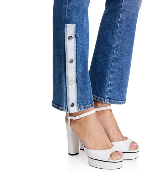 Veronica Beard Carolyn High Rise Baby Boot  Jeans with Buttons