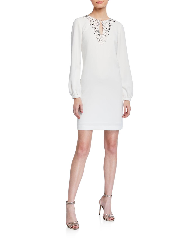 Trina Turk Tangle Long-Sleeve Sheath Dress