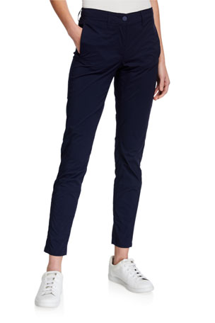 Anatomie Kamryn Pieced Straight-Cut Ankle Pants