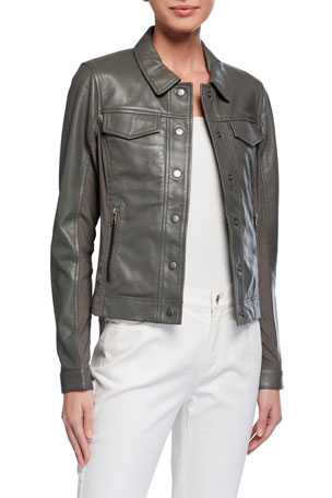 Anatomie Quinny Lambskin Leather Jacket