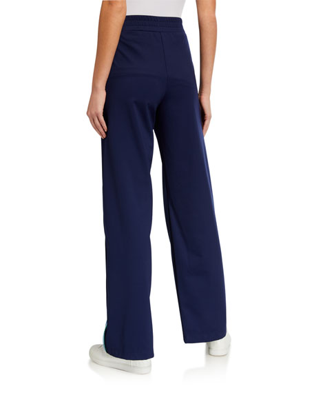 Image 2 of 4: Anatomie Elsie Flare-Cut Side Stripe Easy Pants