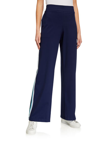 Image 1 of 4: Anatomie Elsie Flare-Cut Side Stripe Easy Pants