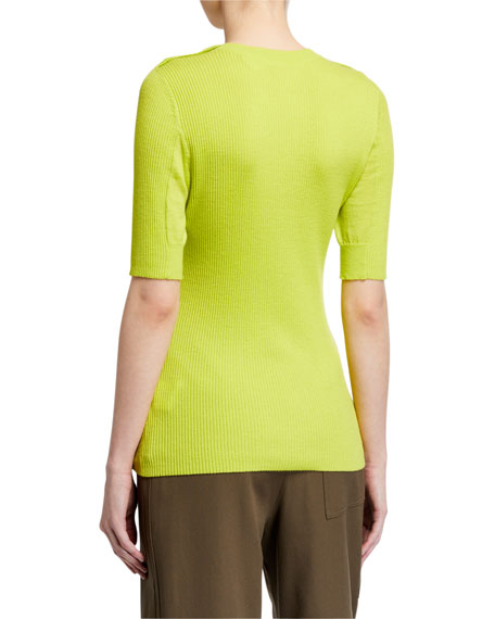 Image 2 of 2: 3.1 Phillip Lim Picot Stitch Top w/ Buttons