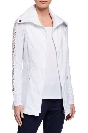 Anatomie Summer Delaney Long Zip-Front Vest