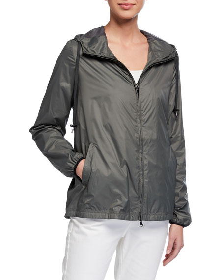 Image 1 of 2: Anatomie Astra Zip-Front Hooded Wind-Resistant Jacket