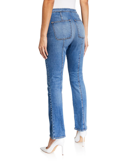 Image 2 of 3: Veronica Beard Jeans Carly High-Rise Kick Flare Jeans